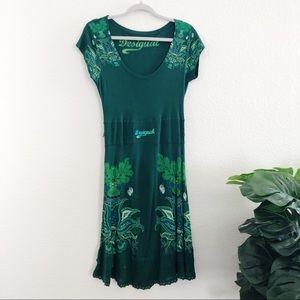 Desigual Boho Green Dress